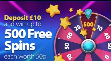 bgo giving away up to £250 worth of free spins to new customers